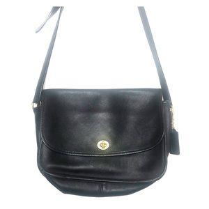 Coach Vintage Classic Black City Flap shoulder bag